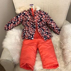 Other - NEVER USED toddler snow bib and waterproof jacket